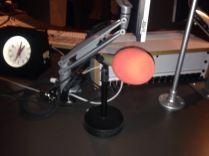 In the radio studio